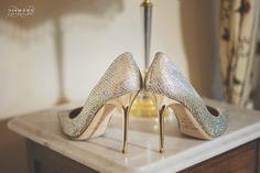 Izza's Jimmy Choo wedding shoes