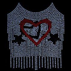 13x16 - Hearts - pazarlık Rhinestones, Rhinestones Uygun Fiyatlı, Materyal Transfer, Moda