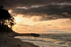 Beach at Jaroslawiec, Poland on the Baltic Sea at sunset Poland Travel, Baltic Sea, Krakow, Holiday Travel, The Good Place, Cool Pictures, Travel Destinations, Scenery, Places To Visit