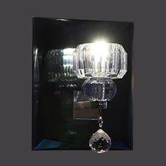Artistic Crystal Wall Light with 1 LED Light – LightSuperDeal.com