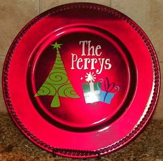Personalized Christmas Plate Charger