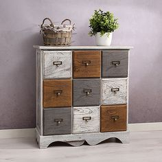 Bench Chest Bank hallway dresser Shelf cabinet Wood Shabby Chic vintage SITZMOEBEL Source by red_f Funky Painted Furniture, Timber Furniture, Pine Furniture, Distressed Furniture, Refurbished Furniture, Upcycled Furniture, Furniture Makeover, Dresser Shelves, Chest Dresser