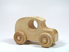 Wooden Toy Car by littlewoodenwonders on Etsy, $6.00