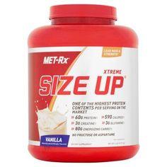 MET-Rx Xtreme Size Up Vanilla Protein Powder Dietary Supplement, 6 lb, Brown