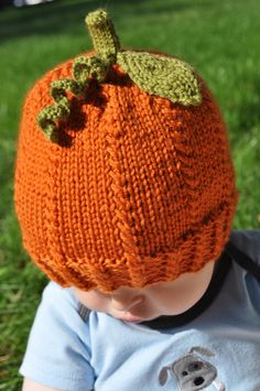 Pumpkin Spice Hat PDF Knitting Pattern for by cutiepatootees