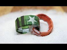 Geldscheine falten EHERINGE, Origami Geldgeschenke zur Hochzeit - YouTube