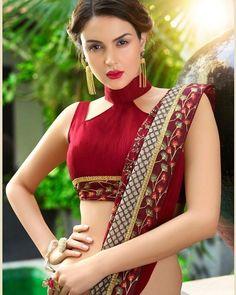 Trending & Latest blouse designs catalogue 2019 - New Blouse Designs Indian Blouse Designs, Choli Designs, Blouse Back Neck Designs, Saree Jacket Designs, Sari Blouse Designs, Neckline Designs, Designer Blouse Patterns, Fancy Blouse Designs, Latest Blouse Neck Designs