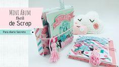 Mini álbum con deslizables - YouTube Diy Gifts Videos, Craft Videos, Handmade Crafts, Diy And Crafts, Paper Crafts, Mini Scrapbook Albums, Mini Albums, Diy Mini Album, Happy Mail