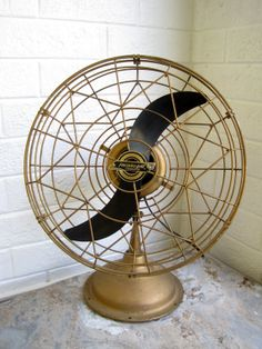 1950s Art Deco Table Fan  Blows Cold by contentshome on Etsy, $165.00