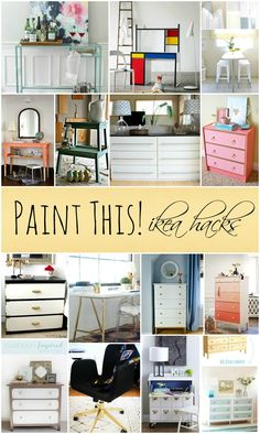 15 Amazing IKEA Furniture Transformations that are easy to create with paint!