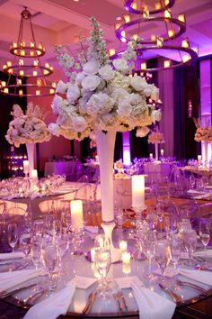 A closer view of our amazing reception tables and centerpieces ... Gravel - Verdino #Wedding at the Liberty Hotel ... Please comment with any questions!