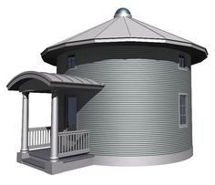 Grain Bin Cabin Plan: maybe a future, cheap, cabin or hunting shack Quonset Homes, Prefab Homes, Tiny Homes, Halle, Silo House, House Floor, Insulated Concrete Forms, Grain Silo, Natural Homes