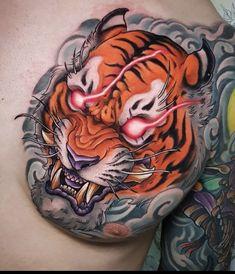 Japanese Tiger Tattoo, Japanese Tattoo Designs, Japanese Sleeve Tattoos, Small Tattoo Designs, Tattoo Sleeve Designs, Leopard Tattoos, Animal Tattoos, Badass Tattoos, Body Art Tattoos