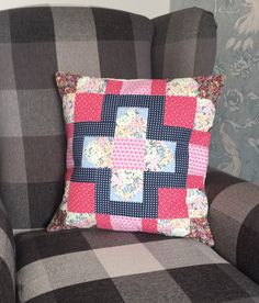 Excited to share the latest addition to my shop: Patchwork cushion Cushions, Traditional House, Patchwork Cushion, Colours, Etsy, Washable, Christmas Traditions, Cushion Pads, Cushion Cover