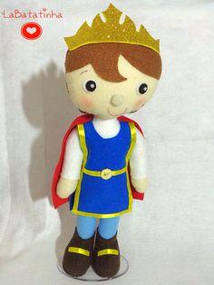 Príncipe encantado feltro