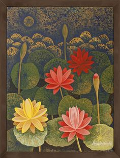This Indian artwork Untitled with SKU is available exclusively at ArtCollective. This painting is in the collection FLORA Lotus Artwork, Lotus Painting, Mural Painting, Mural Art, Pichwai Paintings, Indian Art Paintings, Indian Artwork, Indian Folk Art, Madhubani Painting