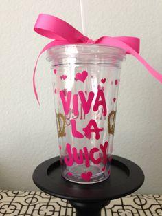 Viva La Juicy Juicy Couture Inspired Tumbler Cup by RoyalTDesigns