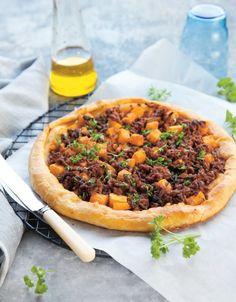 Húsragus-sütőtökös pite Cheesesteak, Vegetable Pizza, Cake Recipes, Bacon, Vegetables, Ethnic Recipes, Food, Essen, Easy Cake Recipes