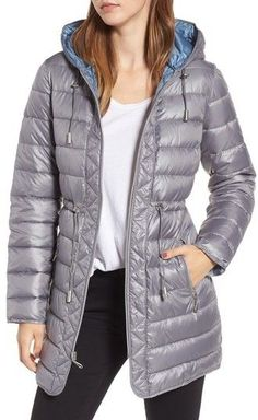 Kenneth Cole New York Women's Packable Quilted Parka Color Lines, Parka, Contrast, Winter Jackets, Nordstrom, Motorcycle Jackets, Fitness, Collection, Fashion