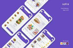 Delivery App, Ui Elements, Vector Shapes, Ui Kit, App Ui, Wordpress, Templates, Food, Stencils