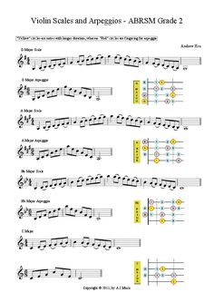 scales grade 2 violin abrsm - Google Search