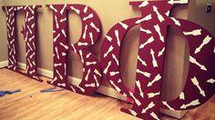 Pi Beta Phi arrow print letters! #piphi #pibetaphi