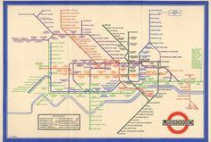 O mapa do metrô de Londres criado em 1933: ícone de organização, elegância e clareza. É usado até hoje.