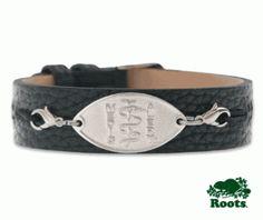 Black Leather Medical ID Bracelet | MedicAlert Foundation
