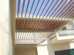 Aluminum waterproof shading system Glazetech GE in a house in Kifisia area in Athens.