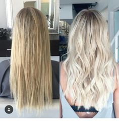 """Darker roots and really blonde overall looks great! I want a bright blonde that ., Summer Hairstyles, """" Darker roots and really blonde overall looks great! I want a bright blonde that isn't yellow at all Source by Light Blonde Hair, Blonde Hair Looks, Blonde Hair With Highlights, Blonde Color, Light Blonde Balayage, Blonde Dark Roots, Yellow Blonde Hair, White Hair, Hair Shades"""