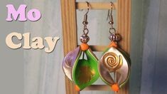 Orecchini mobius e stamping - Polymer clay earrings tutorial - Pendiente...