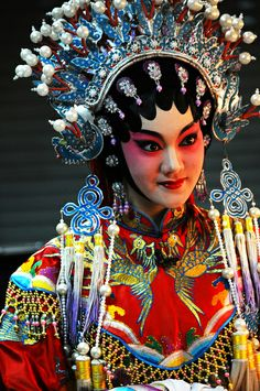 ☮ Travel Asian Chinese Opera girl 花旦 by Melinda // Chinese Opera... I don't even know how they do it... they all dress like this and start screeching