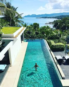 While many of our guests find it difficult to take their eyes away from the view from their private infinity pool, Samujana Villas is also the perfect. Koh Samui, Tropical Garden, Luxury Villa, Thailand, Outdoor Decor, Tropical Backyard, Tropical Gardens, Tropical Landscaping