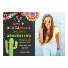 #Holy Guacamole Fiesta Graduation Invitation party - customized designs custom gift ideas
