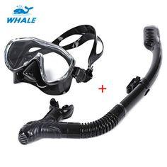 WHALE Safe Professional Scuba Diving Mask Silicone Mask Snorkel Durable Wear Resistant Diving Masks Set Soft Comfortable Mask