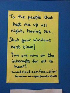 Strange and Funny Neighbor Notes