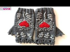 How to use fingerless gloves - Canım Anne - Knitting 2019 - 2020 Knitted Gloves, Fingerless Gloves, Crochet Hand Warmers, Knit Crochet, Crochet Hats, Crochet Videos, Baby Knitting Patterns, Knitting Needles, Cable Knit Sweaters