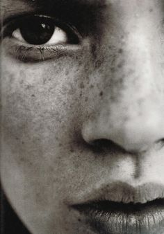 Nobody with freckles should wear foundation. Too beautiful to be covered.