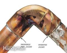 How to Solder Copper Pipe: Even a rookie can learn to solder leak-proof joints in 30 minutes.  Read more: http://www.familyhandyman.com/plumbing/how-to-solder-copper-pipe/view-all