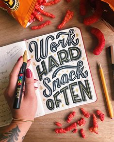 This week's challenge is to letter your life motto, so here's mine! I believe in it so much that I even have it tattooed on my… – Quotation Mark Hand Lettering Quotes, Types Of Lettering, Brush Lettering, Lettering Design, Chalk Lettering, Typography Quotes, Calligraphy Letters, Typography Letters, Typography Layout