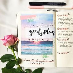 "187 Likes, 5 Comments - i n k a (@inkajournal) on Instagram: ""needed a planner page for my monthly goals and the best title I could come up with was ""goals…"""