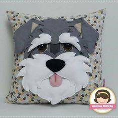 Sewing Pillows, Diy Pillows, Decorative Pillows, Fabric Animals, Felt Animals, Dog Crafts, Felt Crafts, Cute Cushions, Hand Work Embroidery