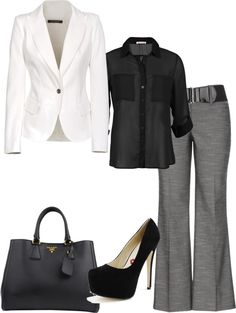 """""""simple office attire"""" by karrame-gibson on Polyvore"""