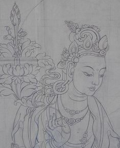 The Tibetan Gallery & Studio - Tibetan Gallery & Studio Kerala Mural Painting, Buddha Painting, Indian Art Paintings, Buddha Art, Love Birds Painting, Fabric Painting, Tibet Art, Thangka Painting, Indian Folk Art
