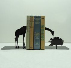 Giraffe Metal Art Bookends - Free USA Shipping from KnobCreekMetalArts on Etsy. Saved to Favorites from Etsy!