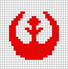 Rebel Alliance Logo Crochet Pattern- working on Star Wars quilt ideas. Star Wars Crochet, Pixel Crochet, Crochet Stars, Crochet Cross, Star Wars Quilt, Star Wars Crafts, Geek Crafts, Cross Stitching, Cross Stitch Embroidery