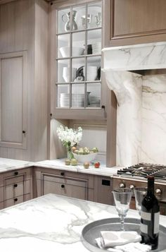Home Design Kitchen Check Out Narrow Kitchen Remodel Ideas Bookcases and storage systems Article Bod Kitchen And Bath, New Kitchen, Kitchen Dining, Kitchen Cabinets, Gray Cabinets, Taupe Kitchen, Narrow Kitchen, Awesome Kitchen, Dining Room