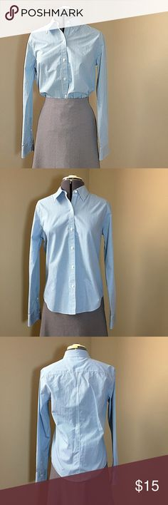 """Brooks Brothers Blue Gingham Button Down Blouse Brooks Brothers Blue Gingham Button Down Blouse. In great condition. Size 10 measures: 16"""" across shoulders, 19"""" across chest, 26"""" long, 24.5"""" sleeve. 100% cotton, non-iron. 1216/100/20517 Brooks Brothers Tops Button Down Shirts"""