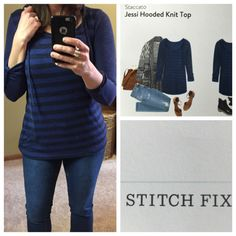 Jessi Hooded Knit Top by Staccato...Stitch Fix