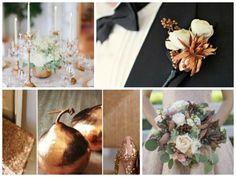 Hochzeitsdeko in Kupfer Farbe - elegante Idee für den herbst
